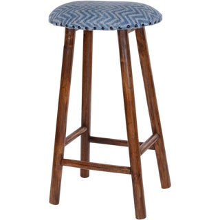 Indian Wooden Bar Stool For Sale