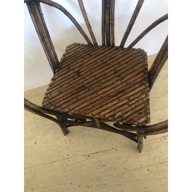 Rustic Antique Rustic Adirondack Twig Chair For Sale - Image 3 of 13