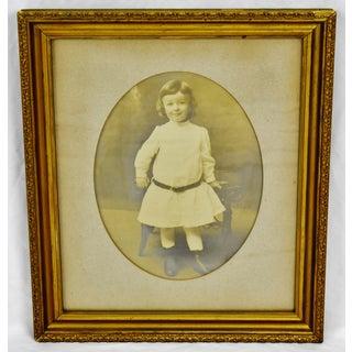 Antique Gilt Framed Photograph Portrait of a Child Preview