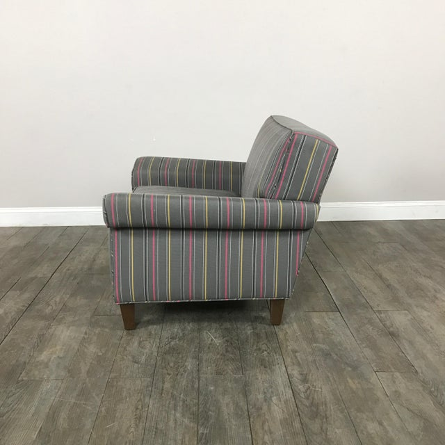 Colorful Striped Club Chair - Image 10 of 11