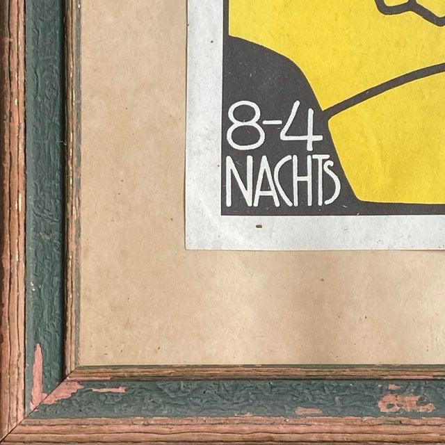 """1908 """"Berthold Loeffler Three Masks: Fledermaus Theater and Cabaret"""" Original Lithograph, Framed For Sale - Image 4 of 7"""