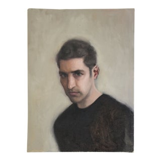 Vintage Male Portrait Oil Painting Study