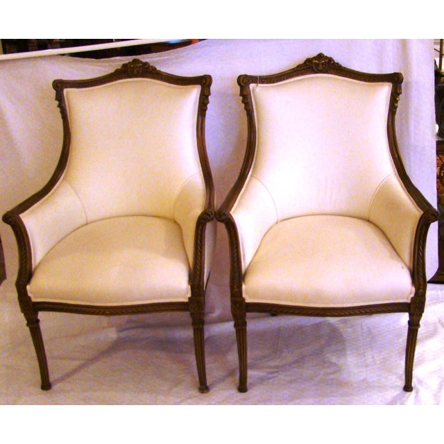Vintage French-Style Club Chairs - A Pair - Image 2 of 9