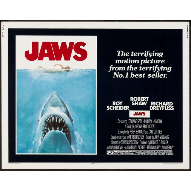 "Original 1975 ""Jaws"" Film Poster For Sale - Image 4 of 4"