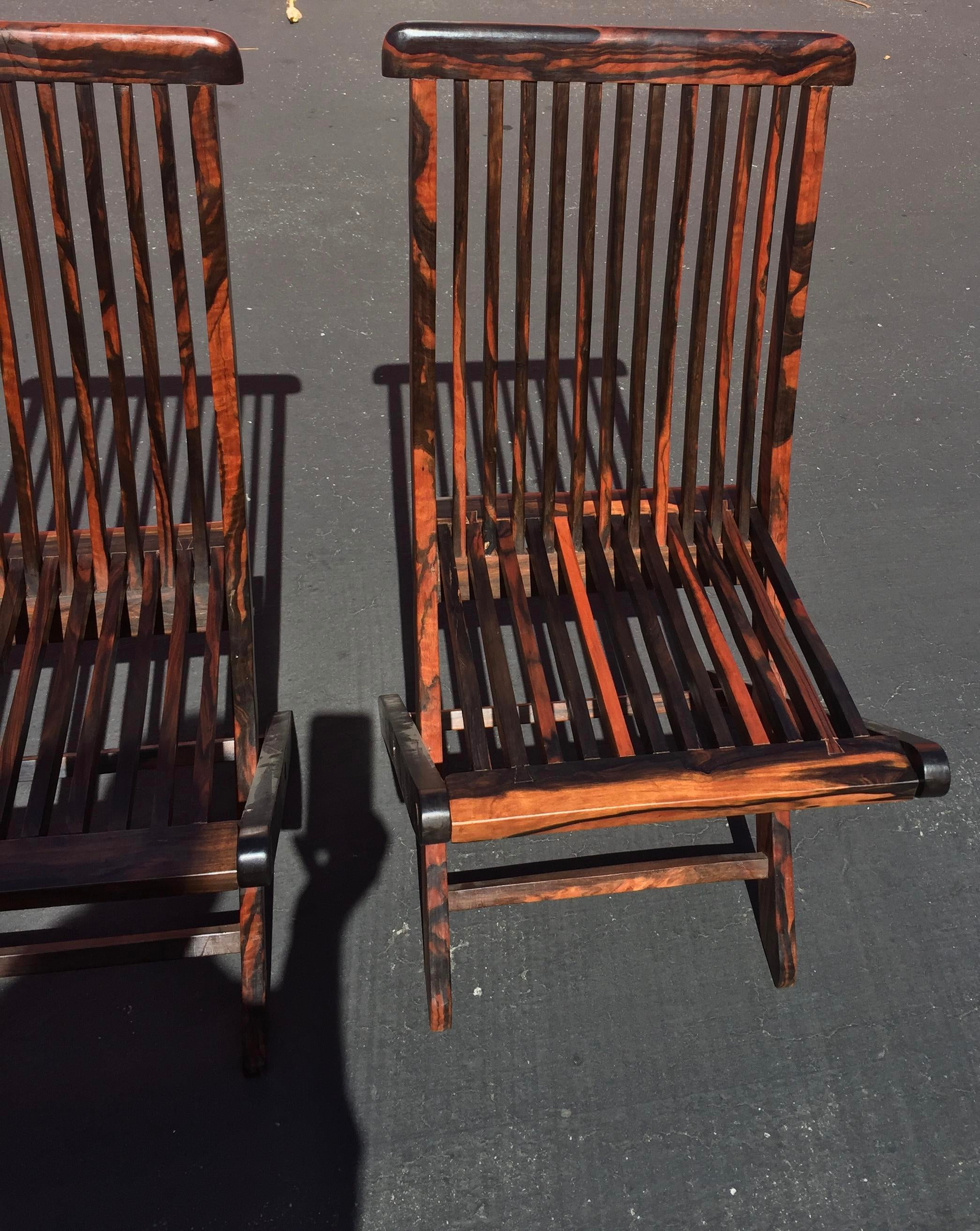 Ebony Macassar Ebony Bistro Chairs   Set Of 6 For Sale   Image 7 Of 11