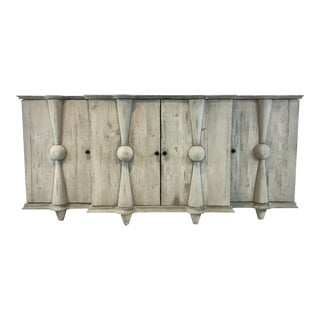 Modern Recycled Pine Gray Sideboard For Sale