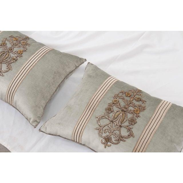 B. Viz Design Antique Textile Pillows For Sale - Image 4 of 7