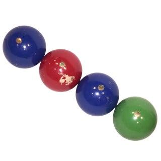Vintage Italian Bocce Balls - Set of 4