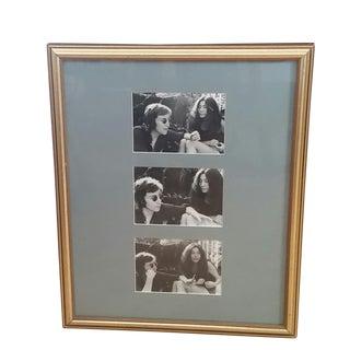 1972 Vintage John Lennon & Yoko Ono Triptych B & W Gel Photographs For Sale