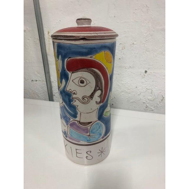 Ceramic Vintage DeSimone Pottery Jar For Sale - Image 7 of 7
