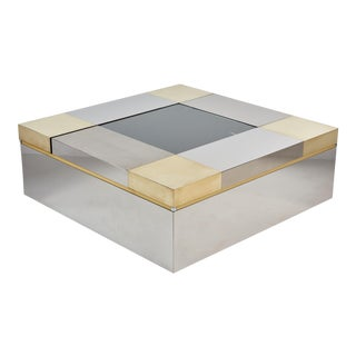 A Stunning Italian Coffee Table With Moveable Compartments. For Sale