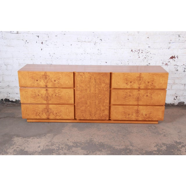 Lane Furniture Burl Wood Credenza by Lane Furniture For Sale - Image 4 of 13