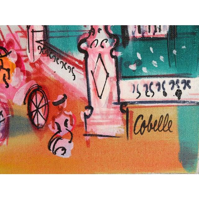 """Figurative Charles Cobelle, """"Rue De l'Arc De Triomphe Du Carrousel, Paris"""", Cityscape Painting For Sale - Image 3 of 3"""