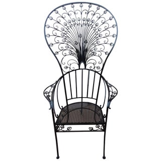 "Peacock ""Salterini"" Patio Chair by Florentine Craft Studio For Sale"