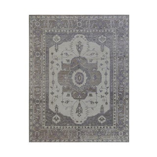 Contemporary Handwoven Lavender Wool Rug - 8x10
