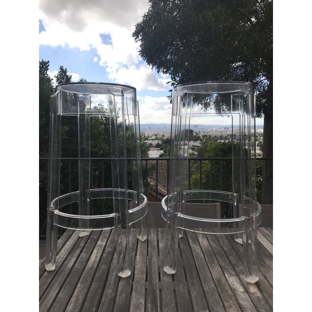 Kartell & Starck Charles Ghost Counter Stools - A Pair - Image 4 of 11