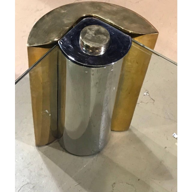 Karl Springer Karl Springer Two Tone Modern Cylinder Base Coffee Table For Sale - Image 4 of 5