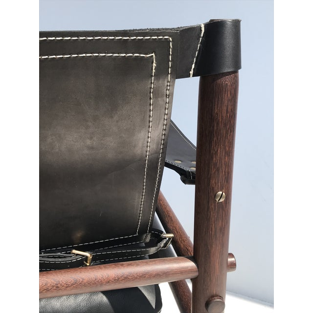 """Black Pair of Arne Norell Black """"Sirocco"""" Safari Chairs For Sale - Image 8 of 11"""