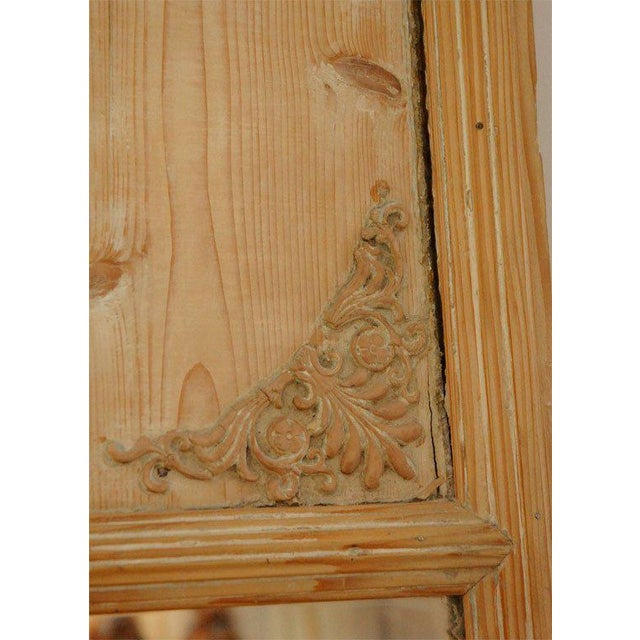 1820s French Directoire Pine Trumeau Mirror For Sale In Los Angeles - Image 6 of 11
