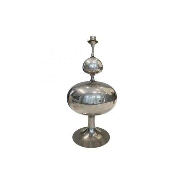 Hollywood Regency Maison Barbier - Polished Table Lamp For Sale - Image 3 of 5