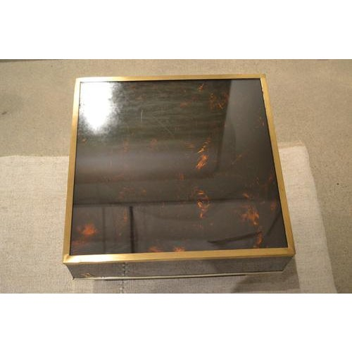 1970s Mid-Century Tortoise Lacquered Table, France For Sale - Image 5 of 8