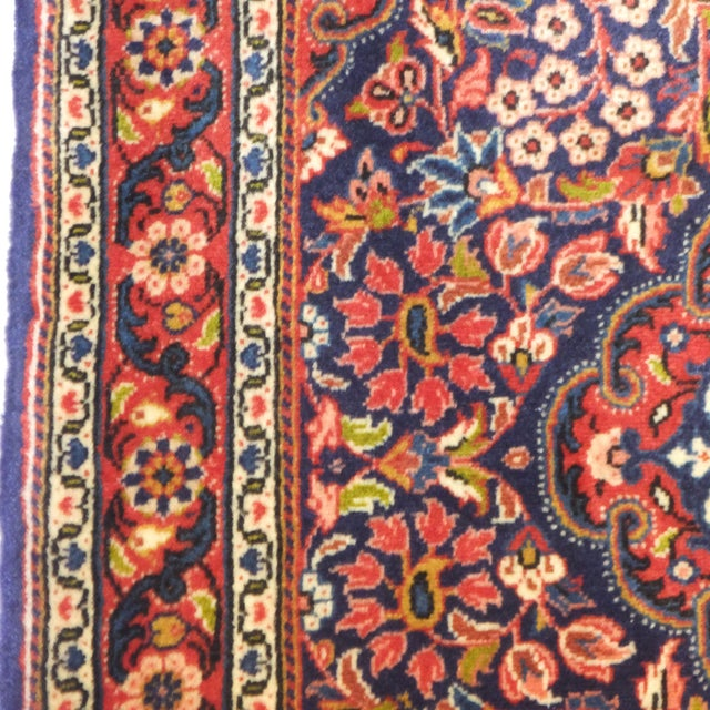 "Persian Sarouk Rug - 3'2"" x 2'3"" For Sale In New York - Image 6 of 6"