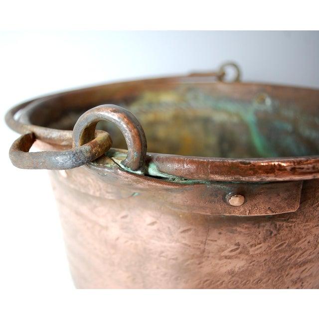 Antique Copper Cauldron Kettle For Sale - Image 5 of 9
