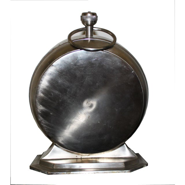 Mid 19th Century Over Sized Metal Louis XII Desk Clock For Sale - Image 5 of 5