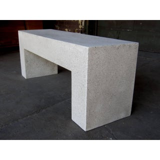 Cast Resin 'Aspen' Bench, Natural Concrete Finish by Zachary A. Design Preview