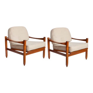 Michel Arnoult Armchairs in Jacarand - a Pair For Sale