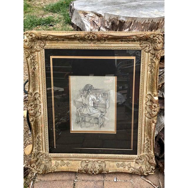 Baroque 1920s Antique Baroque Frame For Sale - Image 3 of 8