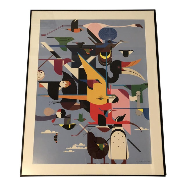 "Charley Harper Framed ""Wings of the World"" Print - Image 1 of 7"