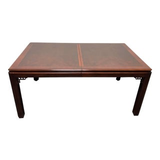 DREXEL Chippendale Asian Influenced Mahogany Dining Table