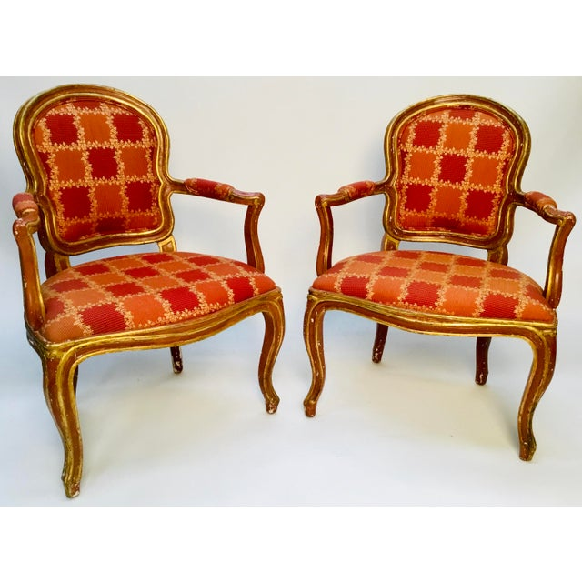 19th Century Venetian Louis XV Style Painted and Gilt Armchairs- A Pair For Sale - Image 13 of 13
