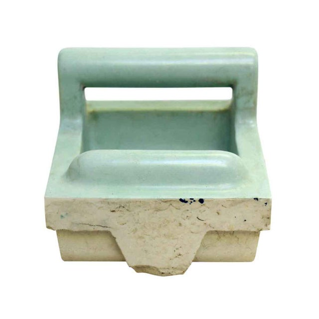 Vintage Green Soap Porcelain Dish - Image 7 of 7