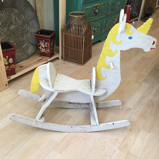 Hand Made Rustic Rocking Unicorn - Image 2 of 6
