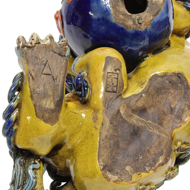 Vintage Ceramic Foo Dogs - A Pair - Image 5 of 5
