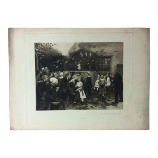 """Antique Photogravure on Paper, """"Distribution of the Prizes"""" from D. Appleton & Co - Circa 1860 For Sale"""
