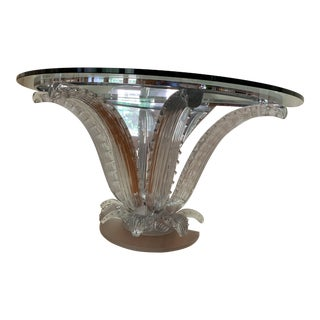 Lalique Half Moon Cactus Console Table For Sale