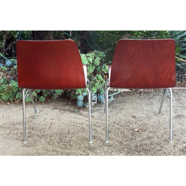 Pagholz Vintage Royal Pagholz Bent Plywood Stacking Chairs- a Pair For Sale - Image 4 of 7