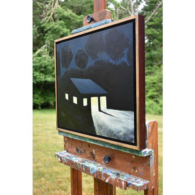 "Blue ""Late Night Work"" Painting by Stephen Remick For Sale - Image 8 of 11"