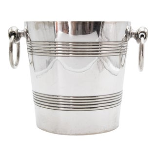 Mid-Century Belgian Silver Plate Champagne Bucket For Sale