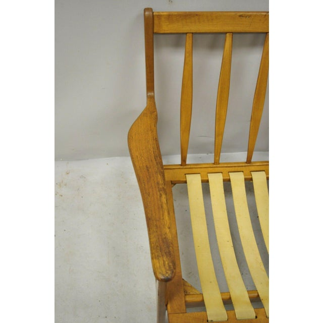 Brown Mid 20th Century Modern Baumritter Walnut Lounge Danish Style Arm Chair For Sale - Image 8 of 12