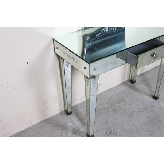 Silver 20th Century Italian Design in the Style of Fontana Arte Console Table, 1940s For Sale - Image 8 of 11