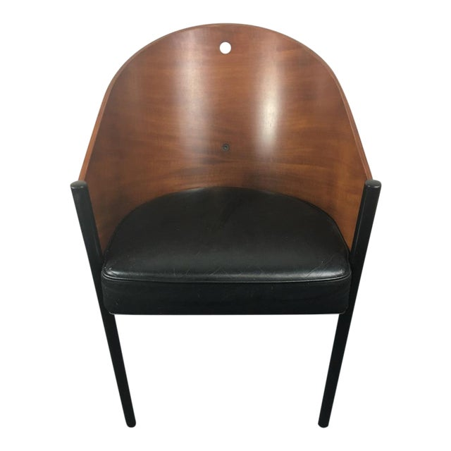 Aleph by Philippe Starck Cherry & Leather Chair - Image 1 of 6