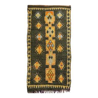 "Vintage Moroccan Rug, 3'10"" X 7'5"" For Sale"