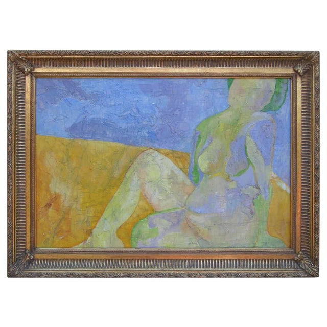 Exquisite Abstract Female in Repose Painting By J.Dahli - Image 1 of 6