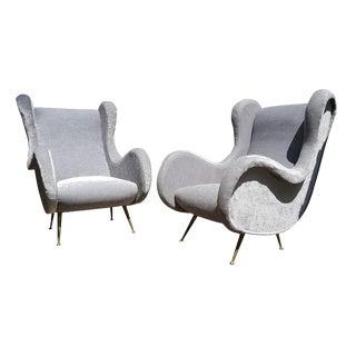 Marco Zanuso Mid-Century Modern Italian Armchairs - A Pair
