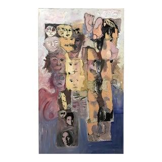 Vintage Oversized Painting Mark Bergash For Sale