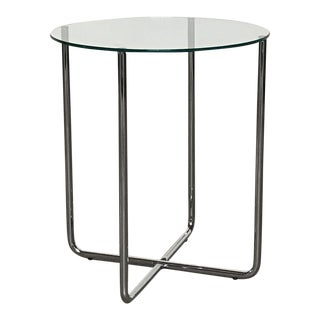 Liv'it Glass Top & Chrome Base Side Table
